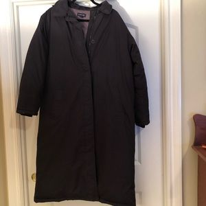 Land's End long down coat size L with hood